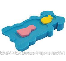 Матрацик в ванну для купання Baby-Tex з двома мочалками для хлопчиків