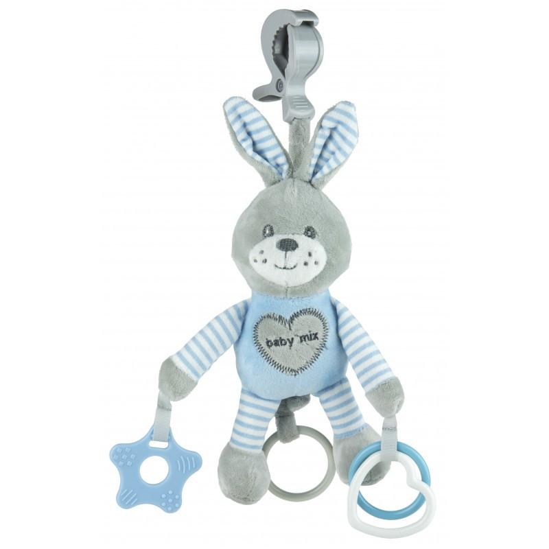 Плюшевая игрушка - подвеска с вибро Baby mix  Blue Кролик