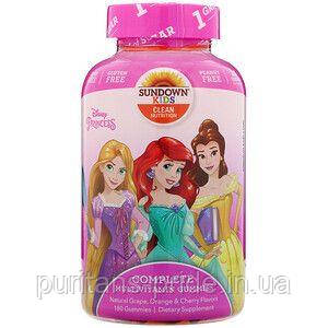 Sundown Naturals Kids, Complete Multivitamin Gummies, Disney Princess 180 Gummies, фото 2