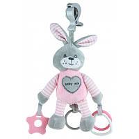 Плюшевая игрушка - подвеска с вибро Baby mix Кролик Pink