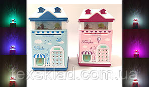 Дитячий сейф-скарбничка HOUSE (синя)