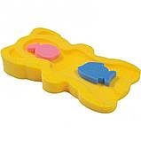 Матрацик в ванну для купання Baby Tex з двома мочалками для дівчаток., фото 3