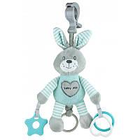 Плюшевая игрушка - подвеска с вибро Baby mix Кролик Mint