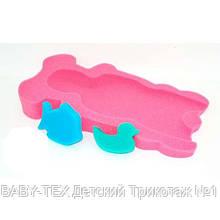 Матрацик в ванну для купання Baby Tex з двома мочалками для дівчаток.