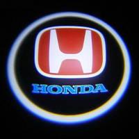 Светодиодная дверная LED подсветка с логотипом  HONDA