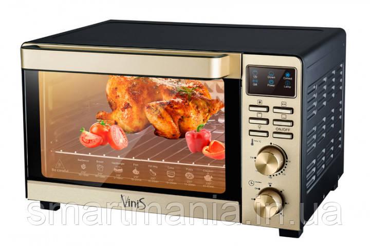 Духовка электрическая печь VINIS VO-5020 с конвекцией, грилем и подсветкой  50L 2000W