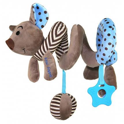 Плюшевая игрушка спираль Baby Mix STK-16433 Мышка Blue, фото 2