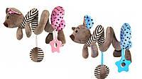 Плюшевая игрушка спираль Baby Mix STK-16433 Мышка