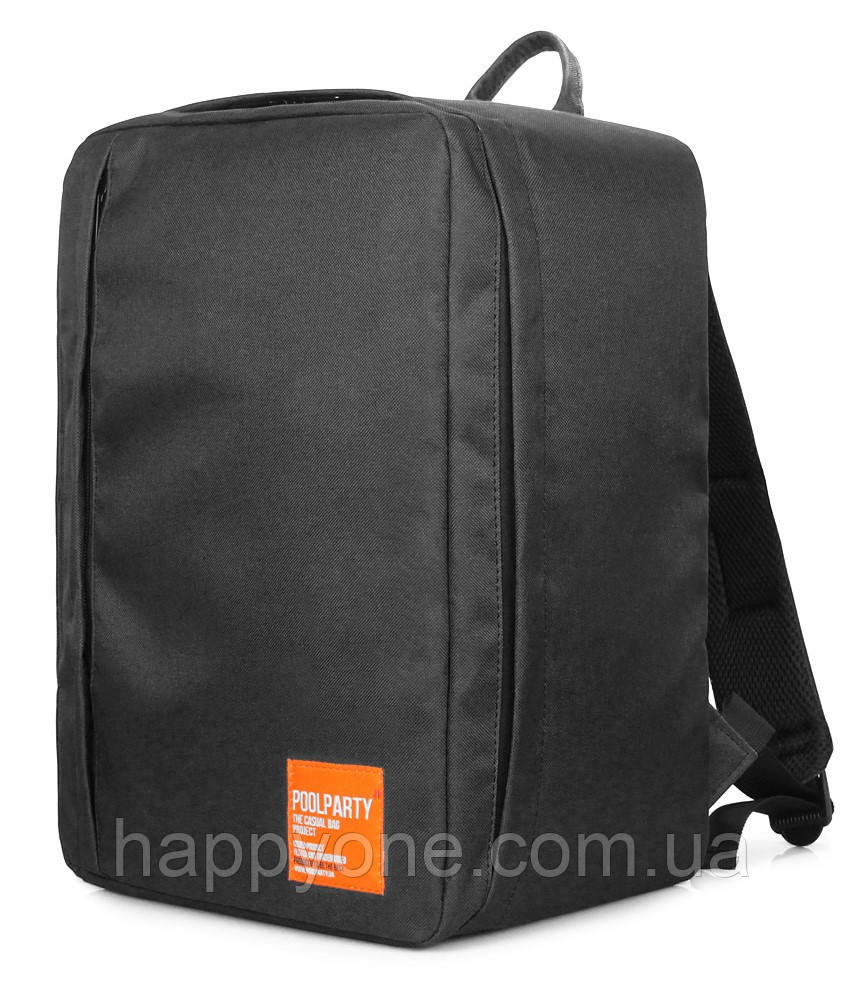 Рюкзак для ручной клади PoolParty Airport (черный) - Wizz Air / МАУ
