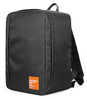 Рюкзак для ручной клади PoolParty Airport (черный) - Wizz Air / МАУ, фото 1