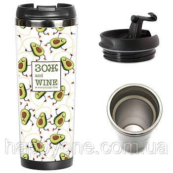 "Термокружка ""ЗОЖ and Wine"" (380 мл)"
