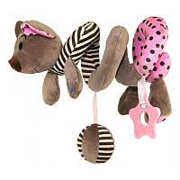 Плюшевая игрушка спираль Baby Mix STK-16433 Мышка Pink