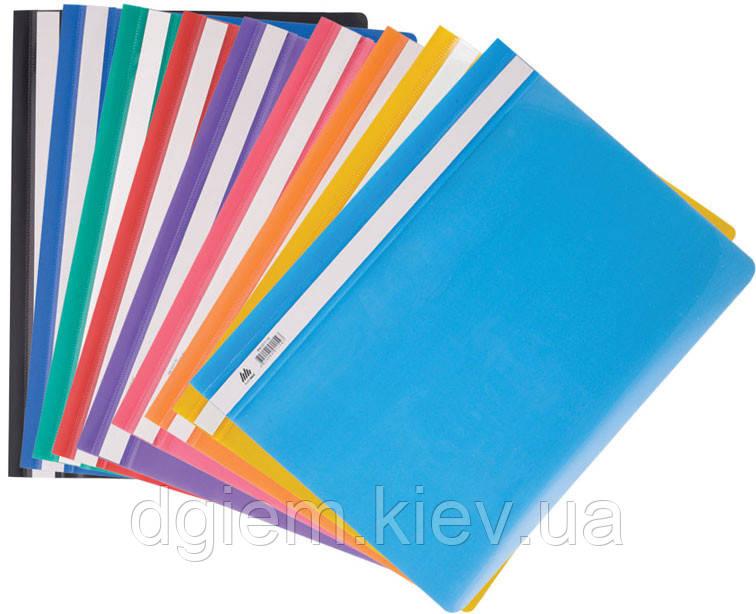 Папка скоросшиватель А4 глянцевый пластик BUROMAX