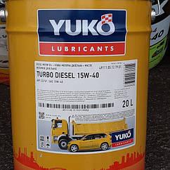 YUKO 15W40 TURBO    DIESEL OIL APICD/SF.20L.