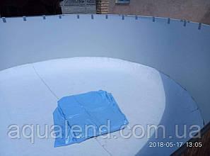 Плівка ПВХ діаметром 4,6 метра Lagoon блакитна для круглих басейнів Azuro, Atlantic Pools, фото 2