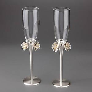 Свадебные бокалы Veronese 2 шт  1021G пара парные бокалы на свадьбу на торжество для шампанского