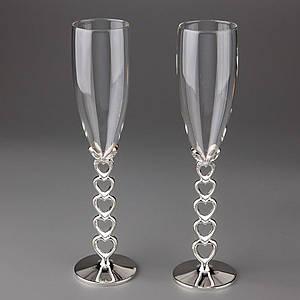 Свадебные бокалы Veronese 2 шт 1009G пара парные бокалы на свадьбу на торжество для шампанского