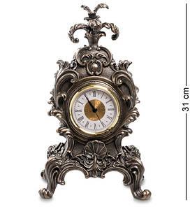 Часы каминные Veronese в стиле барокко Королевский цветок 31 см 1902581 часы настольные веронезе