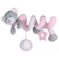Плюшевая игрушка спираль Baby Mix Мишка Pink