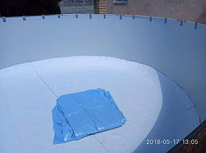 Пленка ПВХ лайнер 5,5 х 3,7 м. Lagoon голубая для овальных сборных бассейнов Azuro, Atlantic Pools, фото 2