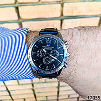 Часы мужские. Мужские наручные часы черные. С черным циферблатом Годинник чоловічий