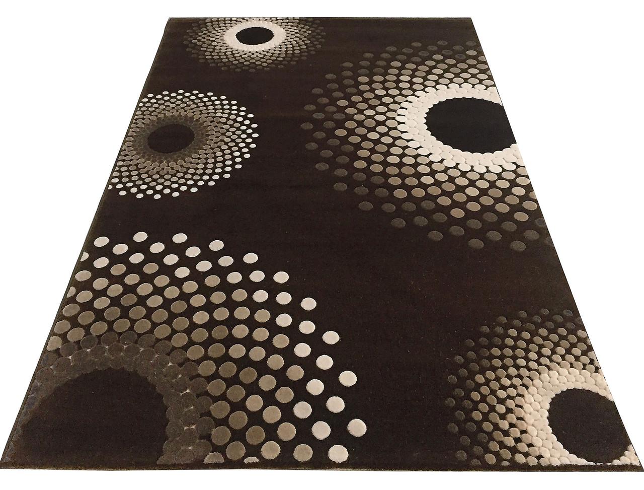 Коврик современный FLORYA 0033 0,8Х1,5 БЕЖЕВЫЙ прямоугольник