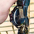Часы мужские в стиле Diesel. Мужские наручные часы черные. С черным циферблатом Годинник чоловічий, фото 2