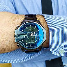 Часы мужские в стиле Diesel. Мужские наручные часы черные. С черным циферблатом Годинник чоловічий, фото 3