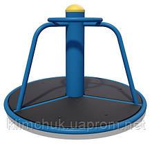 Карусель мала діаметр 0,9 м. для дитячих ігрових майданчиків KidSport