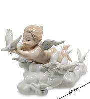 Статуэтка Pavone Амурчик в облаках 40 см 1103660 фарфор фарфоровая фигурка павоне ангел ангелок Амур