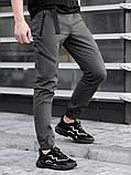 Мужские Джоггеры BEZET Techwear black'20, серые мужские джогеры безет, фото 3