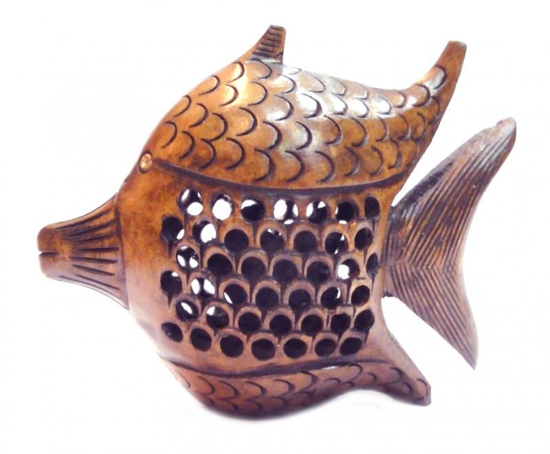 """9160129 Рыба деревянная эвкалипт С5011-4"""""""