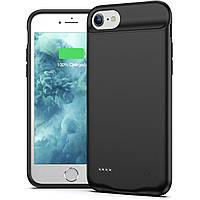 Чехол-аккумулятор AmaCase для iPhone 8 Черный (5600 мАч)