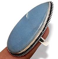Серебряное кольцо с ангелитом ,размер 18.2  от Студии  www.LadyStyle.Biz