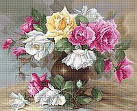 Набор для вышивания крестом Luca-s B587 Ваза с розами
