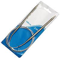 Спицы для вязания №5,5 (на тросике 100см) спицы круговые, фото 1