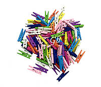 Декоративные прищепки цветные 3см 20шт