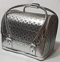 Бьюти кейс Луи чемодан для мастера салонов красоты из кожзама на змейке золото луи