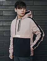 Куртка анорак мужская с капюшоном Staff hopss black & light