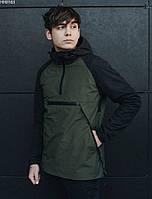Куртка мужская с капюшоном анорак Staff wog khaki & black