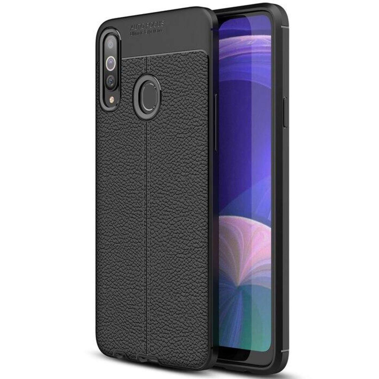 TPU чехол фактурный (с имитацией кожи) для Samsung Galaxy A20s
