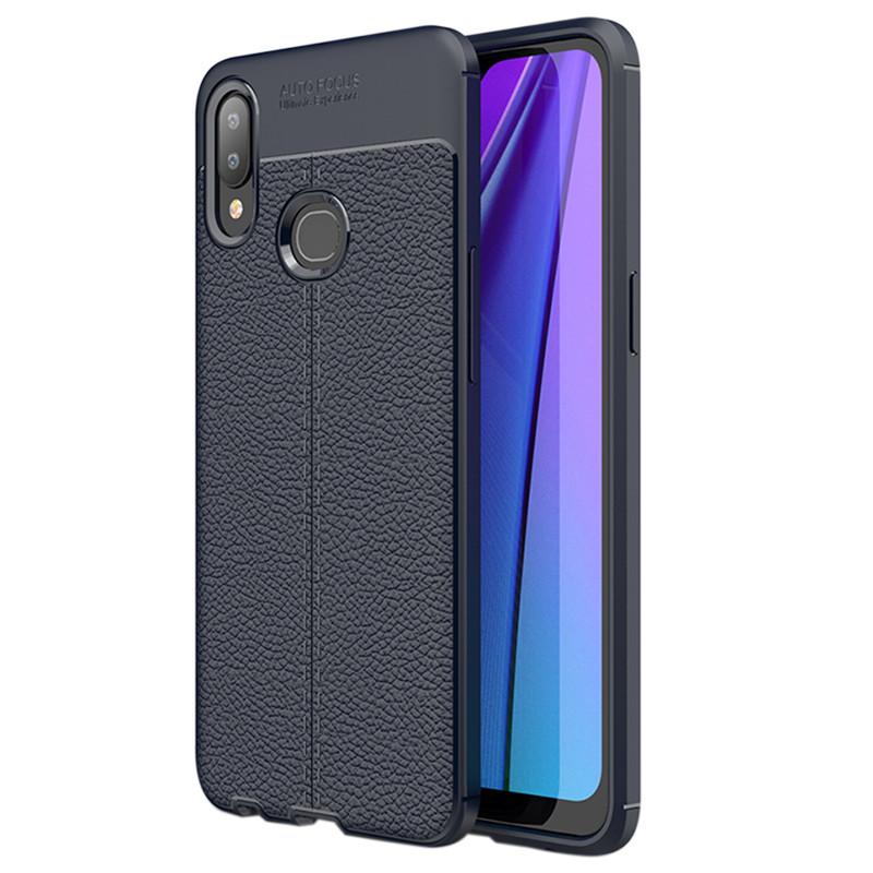TPU чехол фактурный (с имитацией кожи) для Samsung Galaxy A10s