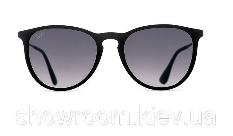 Женские солнцезащитные очки в стиле Ray Ban Erika 4171 black LUX