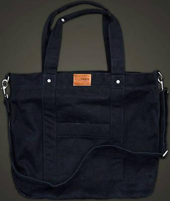 Женская молодежная повседневная котоновая сумка POOLPARTY MALL SHOULDER BAG Арт: pool6-black черная