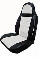 Чехлы на сиденья Рено Трафик (Renault Trafic) 1+1 (универсальные, кожзам, пилот)