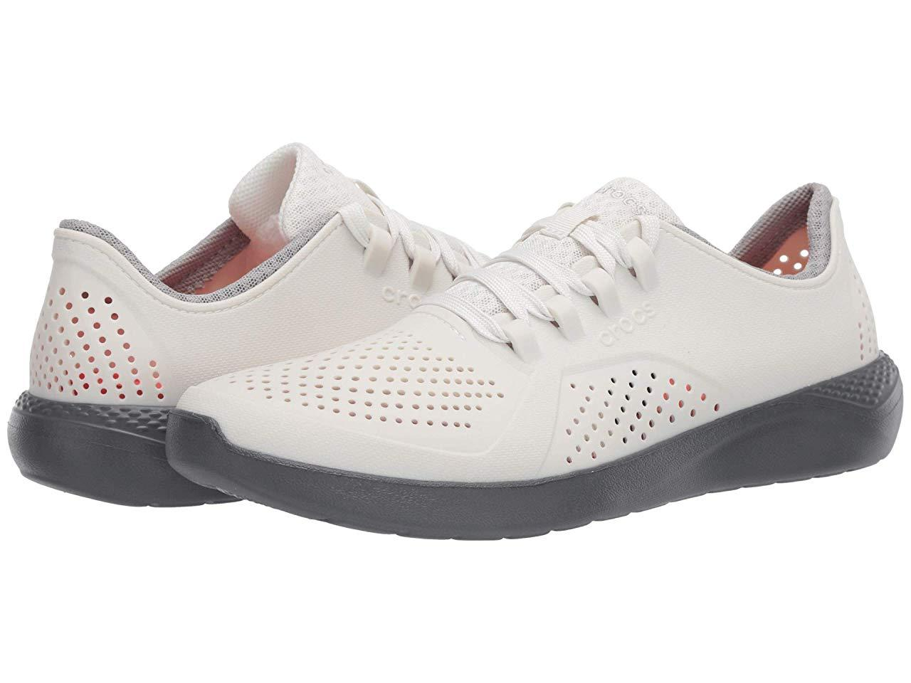Кроссовки/Кеды Crocs LiteRide Pacer Almost White/Slate Grey