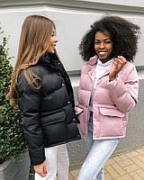 Женская весенняя куртка плащевка черный красный бежевый белый голубой фреза 42 44 46