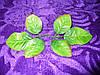 Листочек розы с коричневым, 12 см