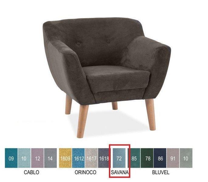 Кресло Bergen I светло-голубой Signal ткань Savana 72