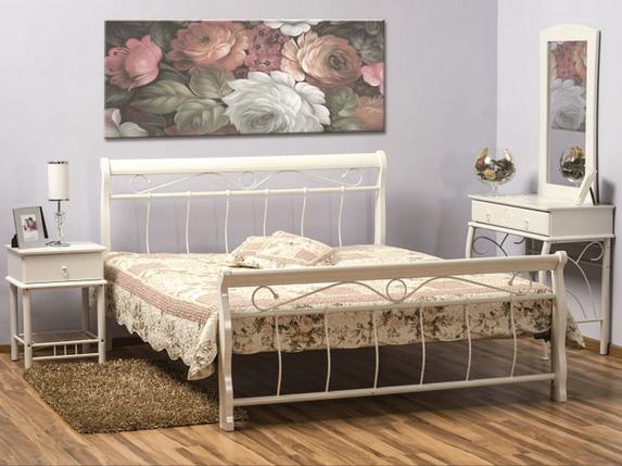 Кровать Venecja 160x200 Signal белый, фото 2